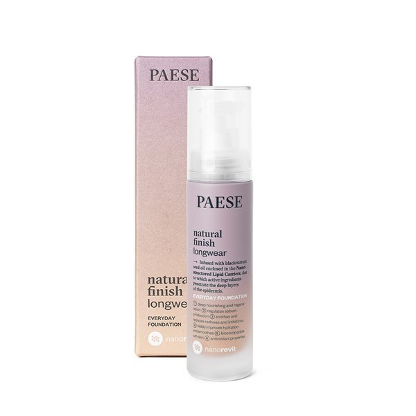 PAESE NANOREVIT NATURAL FINISH LONGWEAR EVERYDAY FOUNDATION 35ml