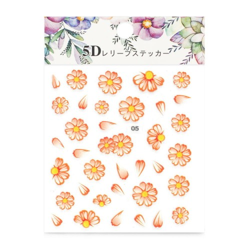 ALLEPAZNOKCIE NAIL STICKERS 5D SELF-ADHESIVE