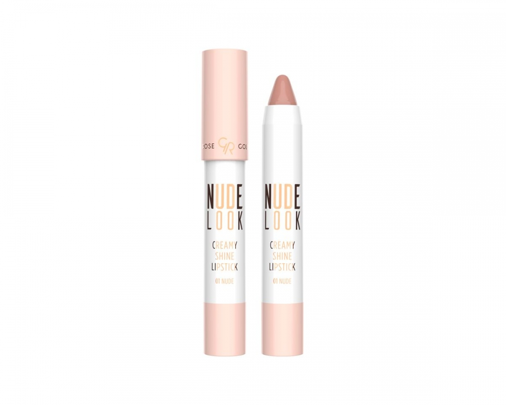 GOLDEN ROSE CREAMY SHINE LIPSTICK-NUDE LOOK