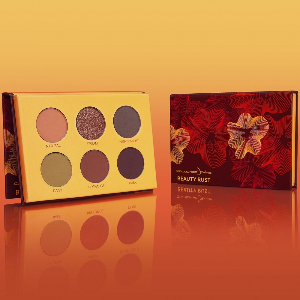 COLOURED RAINE BEAUTY RUST EYESHADOW PALETTE