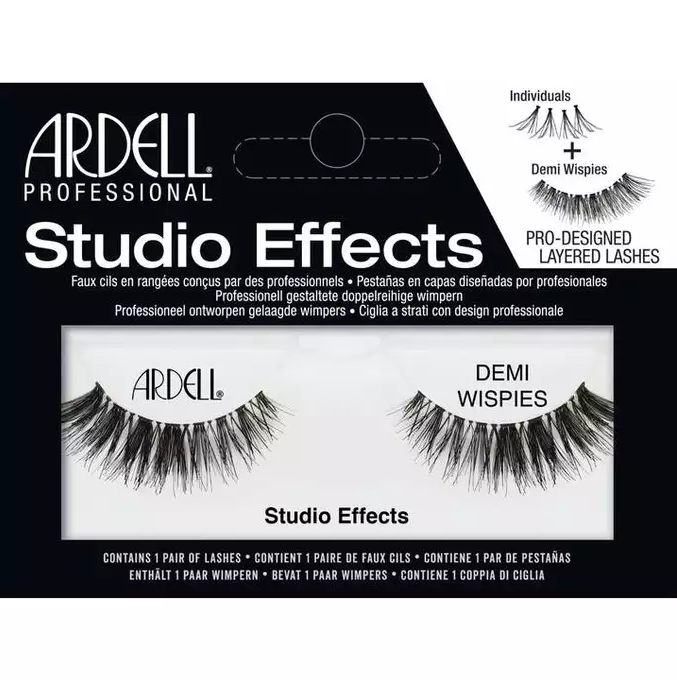 ARDELL LASHES ARDELL STUDIO EFFECTS LASHES BLACK - DEMI WISPIES