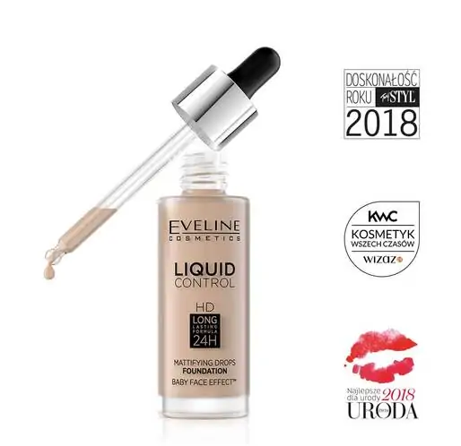 EVELINE LONG-LASTING 24 MATYFYING DROPS FOUNDATION