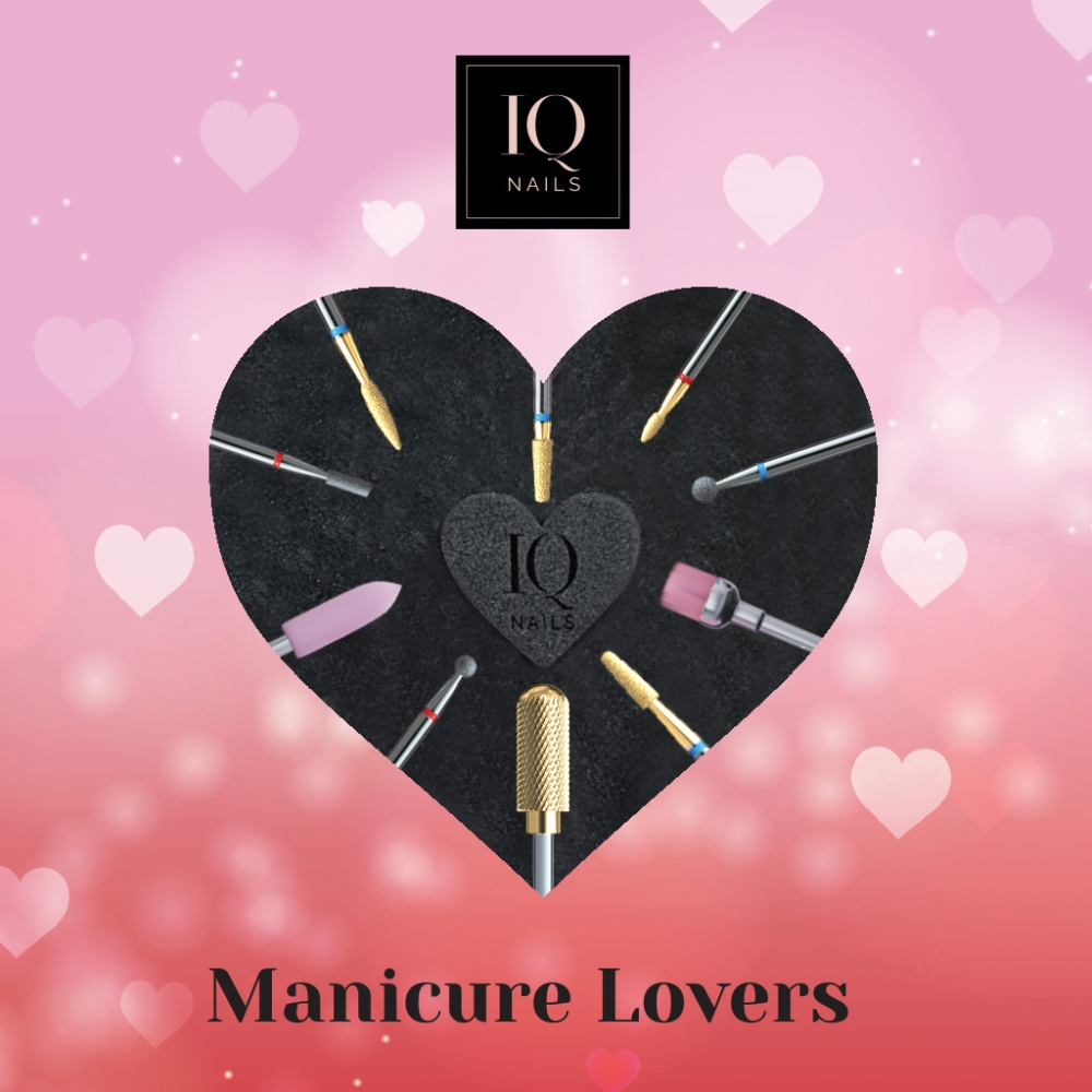 IQ NAILS DRILL BIT SET MANICURE LOVERS LIMITED EDITION