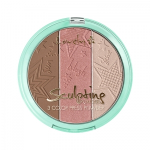 LOVELY SCULPTING POWDER THREE COLOR PRESS POWDER FOR CONTOURING FACE