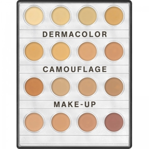KRYOLAN DERMACOLOR CAMUFLAGE MINI-PALETTE WITCH 16 SHADES No.4