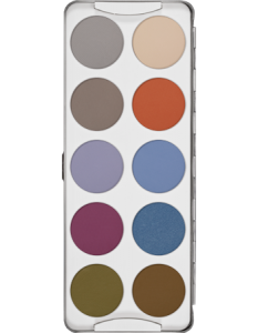 KRYOLAN EYE SHADOW PALETTE 10 COLORS FASHION