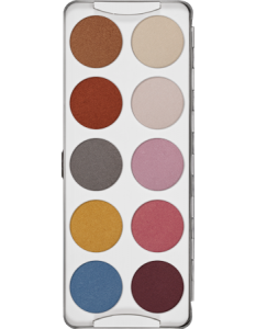 KRYOLAN EYE SHADOW PALETTE 10 COLORS IRIDISCENT