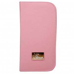 JULIA NESSA CASE FOR NAIL BRUSHES AND ACCESSORIES PINK