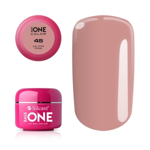 SILCARE BASE ONE COLOR GEL LA VIVA PINK 45