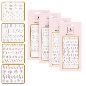 MISTERO MILANO NAIL STICKER ROSE GOLD SET ALL STYLES 6007