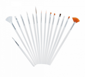 ABA GROUP NAIL BRUSH SET 15 PCS WHITE
