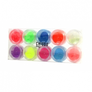CHIODO PRO FLUORESCENT POWDER SET 10 PCS