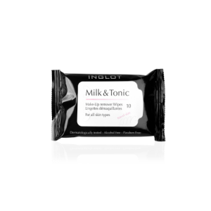 INGLOT COSMETICS MILK TONIC MAKEUP REMOVER WIPES TRAVEL SIZE
