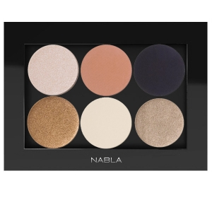 NABLA SET 0F 6 EYE SHADOW WITH PALETTE FOR BROWN (WARM TONES)