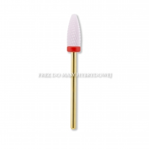 JULIA NESSA CERAMIC DRILL BIT FOR PULLING THE HYBRID (WHITE WITH RED RING)