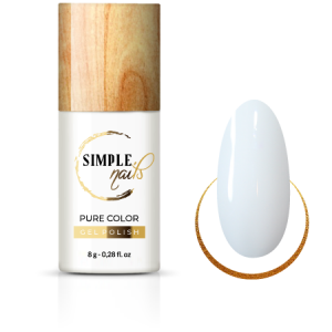 SIMPLE NAILS UV/LED GEL POLISH PURE COLOR FRENCH WHITE