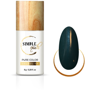 SIMPLE NAILS UV/LED GEL POLISH PURE COLOR FRENCH GREEN BOTTLE