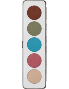 KRYOLAN EYE SHADOW PALETTE 5 COLORS IRIDESCENT
