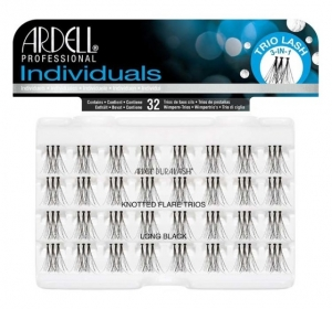 ARDELL LASHES INDIVIDUALS LONG BLACK TRIOS 32szt