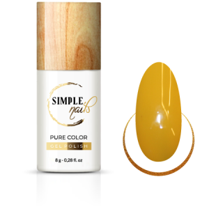 SIMPLE NAILS UV/LED GEL POLISH PURE COLOR MUSTARD
