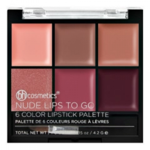 BH COSMETICS NUDE LIPS TO GO 6 COLOR LIPSTICK PALETTE