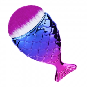 ALLEPAZNOKCIE NAIL DUST BRUSH FISH CHUBBY MERMAID BRUSH