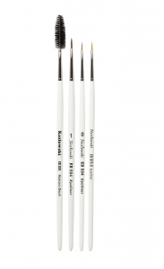 KOZLOWSKI SET 0F 4 BRUSHES EYELINER&EYE BROW WHITE