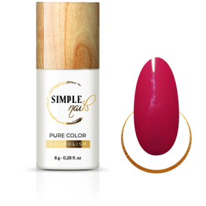 SIMPLE NAILS UV/LED GEL POLISH PURE COLOR PINK RED
