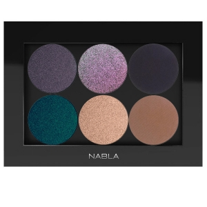NABLA THE SET 0F 6 EYE SHADOWS FOR EVENING MAKEUP WITH PALETTE FOR BROWN EYES