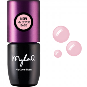 MYLAQ GEL POLISH UV LED BASE FOR HYBRID VARNISHES MY COVER BASE NATURAL PINK 5ML