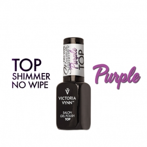 VICTORIA VYNN GEL POLISH TOP NO WIPE SHIMMER PURPLE 8ml