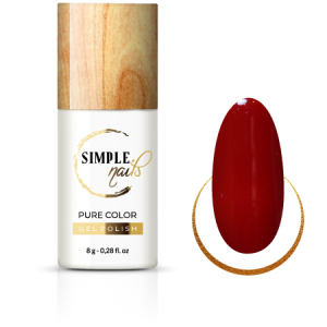 SIMPLE NAILS UV/LED GEL POLISH PURE COLOR RED WINE