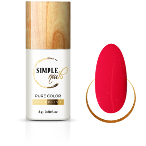 SIMPLE NAILS UV/LED GEL POLISH PURE COLOR RICH RASPBERRY