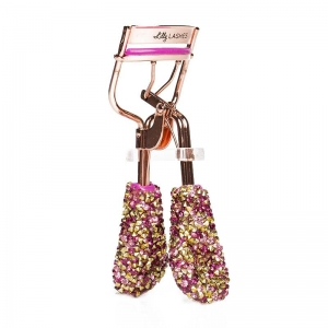 LILLY LASHES BLING ON THE GLAM EYELASH CURLER - HOT PINK