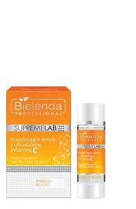 BIELENDA SUPREMELAB ENERGY BOOST SKIN BRIGHTENING SERUM WITH ULTRASTABLE VITAMIN C 15ML