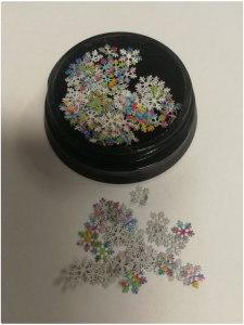 ABA GROUP SNOWFLAKE NAIL DECORATION