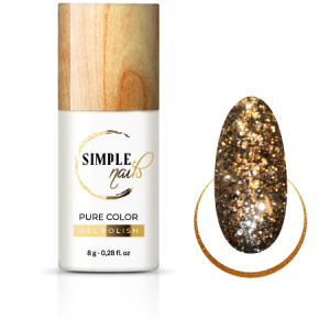 SIMPLE NAILS UV/LED GEL POLISH PURE COLOR SPARKLING GOLD