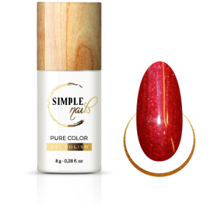 SIMPLE NAILS UV/LED GEL POLISH PURE COLOR SPARKLING WINE