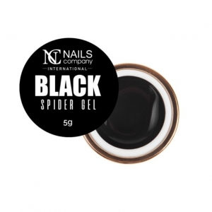 NAILS COMPANY SPIDER GEL BLACK DECORATIVE GEL