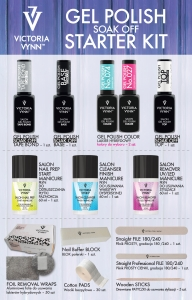 VICTORIA VYNN GEL POLISH STARTER KIT + PRODUCTS SOAK OFF