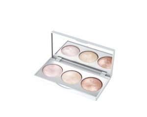 GOLDEN ROSE STROBING HIGHLIGHTER BAKED TRIO PALETTE