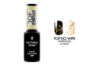 VICTORIA VYNN GEL POLISH TOP NO WIPE GLITTER SILVER 8ml.