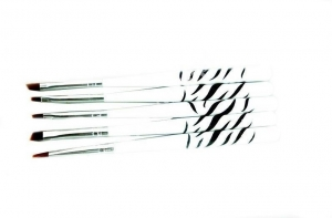ABA GROUP SET OF ZEBRA GEL BRUSHES 5szt