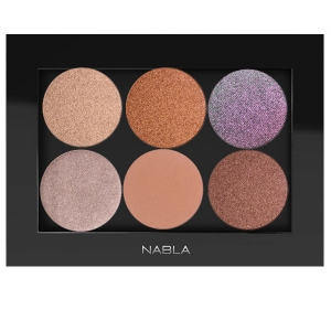 NABLA THE SET 0F 6 EYE SHADOWS FOR EVENING MAKEUP WITH PALETTE FOR GREEN EYES